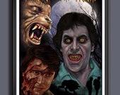 American Werewolf in London Fan Art - A3 Print
