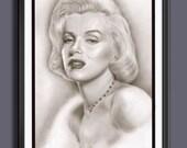Marilyn Monroe - A3 Size Poster Print
