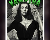Vampira- Maila Nurmi - A5 Size Greeting Card