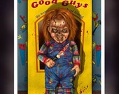 Chucky Doll Out Of Box Box - A 5 Size Greeting Card