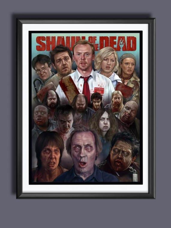 2004 Zombie Horror Comedy Simon Pegg 24x36 Movie Poster Shaun of the Dead