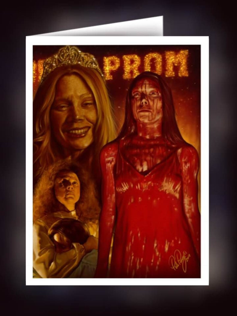 Carrie  Fan Art  A5 Size Greeting Card image 0