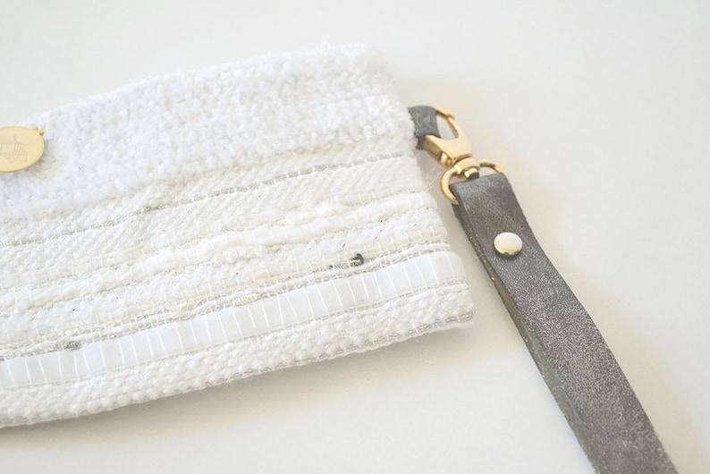 Price soft woven white Kit Nereus precious bag white and silver