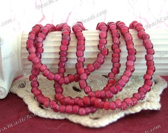 8/0 Antique Venetian Glass White Heart Beads, Light Rose White Heart Beads, Antique White Hearts, Antique Rose Pink White Hearts  VB-074