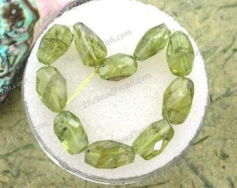 10 ~ Peridot Beads, Semi Precious Stone Beads, Gemstone Beads, Natural Undyed Peridot Nugget Beads  GEM-049
