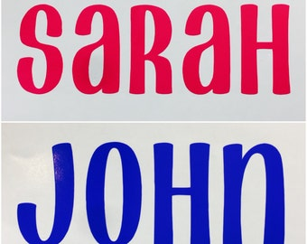 """Personalized Name Decal (6"""" and smaller)"""