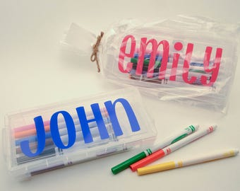Personalized Marker Case (with Crayola Markers!)