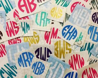 "Vinyl Monogram Decal (5"" or smaller) -Lots of options!"