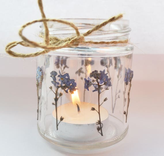 Forget Me Knot Mason Jar Forget Me Knot Candle Holder Etsy