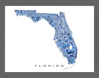 Florida On A Map.Florida Keys Map Print Key West Map Key Largo Florida Keys Etsy