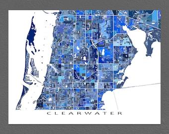 Map Of Clearwater Florida.Florida Keys Map Print Key West Map Key Largo Florida Keys Etsy