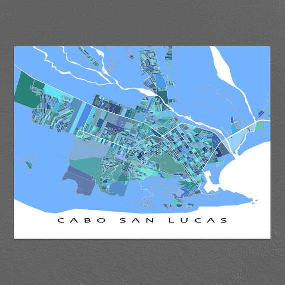 Cabo San Lucas Map Print, Cabo San Lucas Mexico Art, Baja Mexico