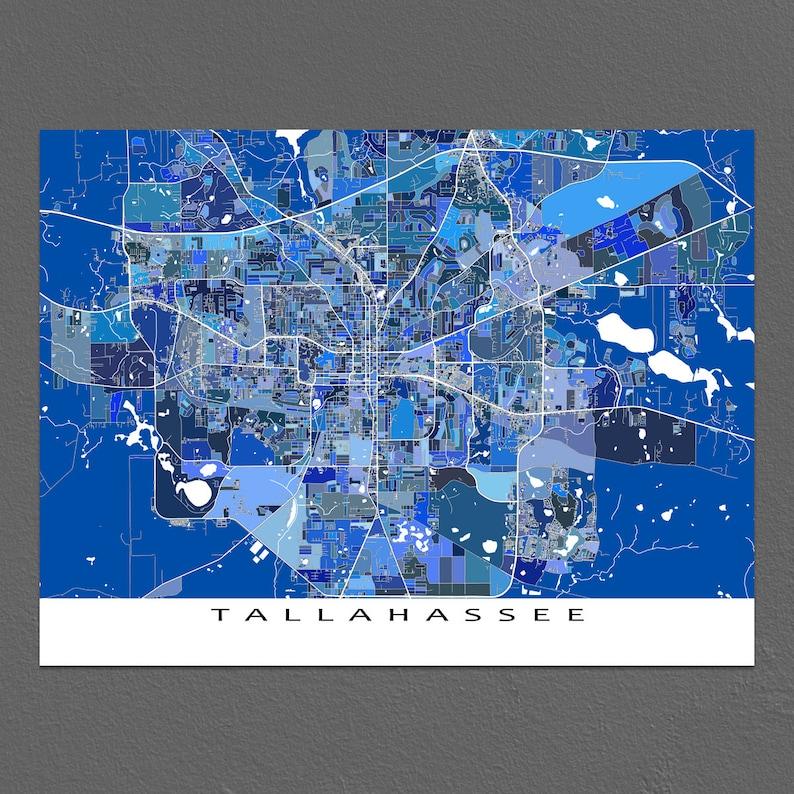 Tallahassee Map Print Tallahassee Florida USA City Map Art   Etsy