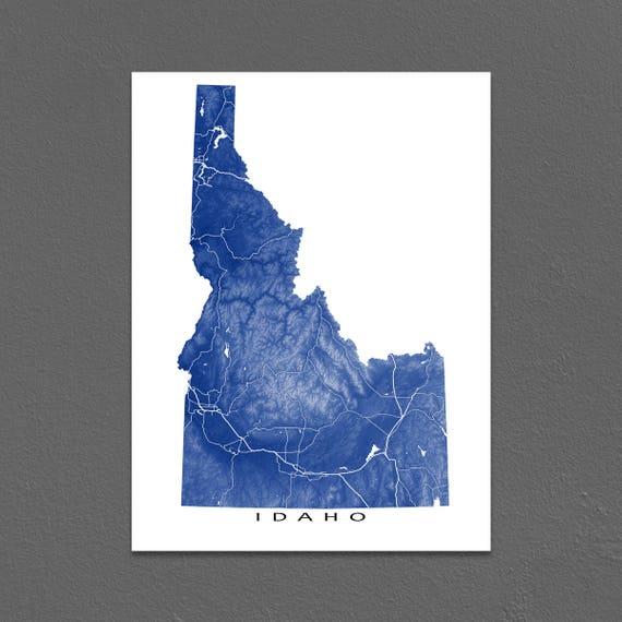 Idaho Map Print, Idaho State Art, USA Artwork on usa map oregon trail, usa map guam, usa map bahamas, usa map cascade, usa map indianapolis indiana, usa map fort lauderdale, usa map with oregon, usa map by zipcode, usa map fort worth, usa map nd, usa map little bighorn, usa map virgin islands, usa map snake river, usa map buffalo, usa map akron, usa map roanoke, usa map long island, usa map orange county, usa map california, usa map cincinnati,