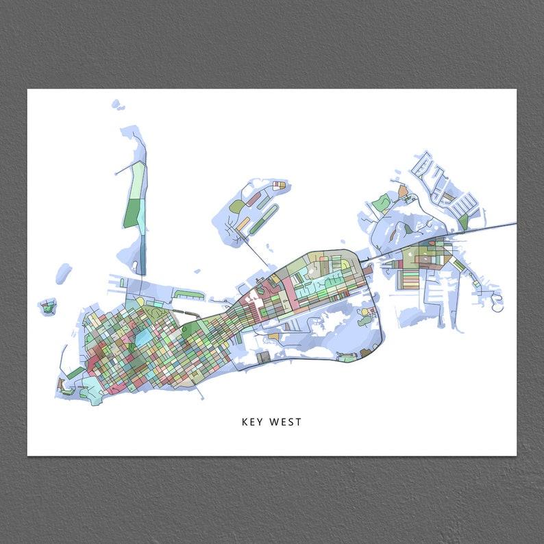 Printable Map Of Florida Keys.Key West Map Key West Art Print Florida Keys Map Key West Poster
