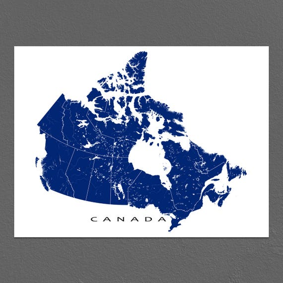 Canada Map Print Canadian Art Canada Poster Wall Map   Etsy on