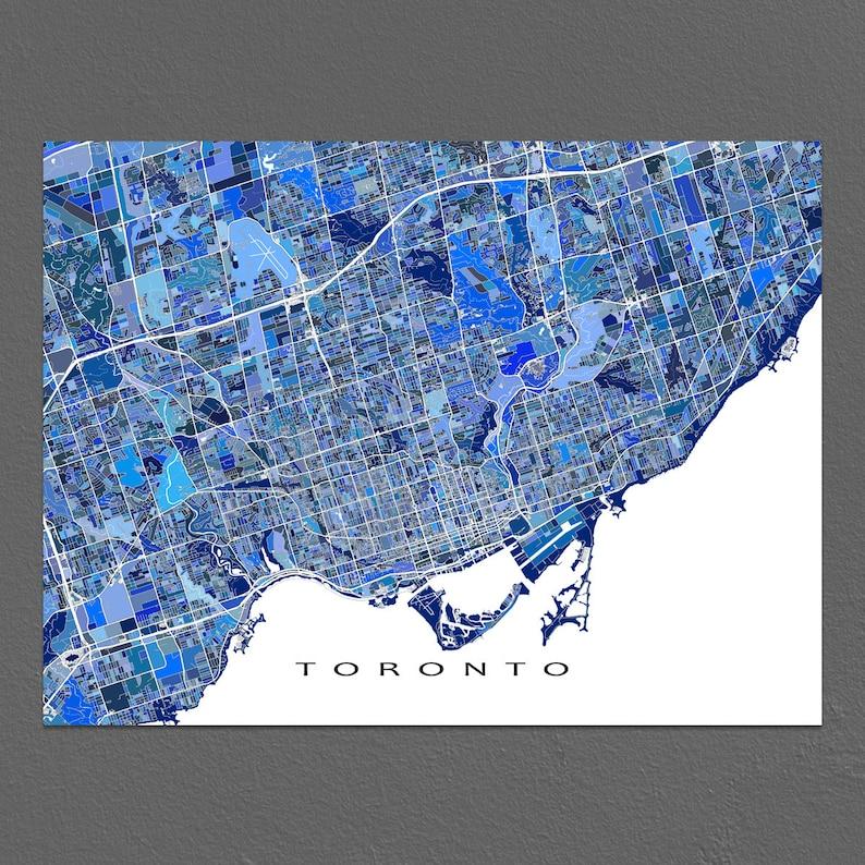 Map Of Canada Toronto Ontario.Toronto Map Print Toronto Canada Toronto Art Ontario Blue