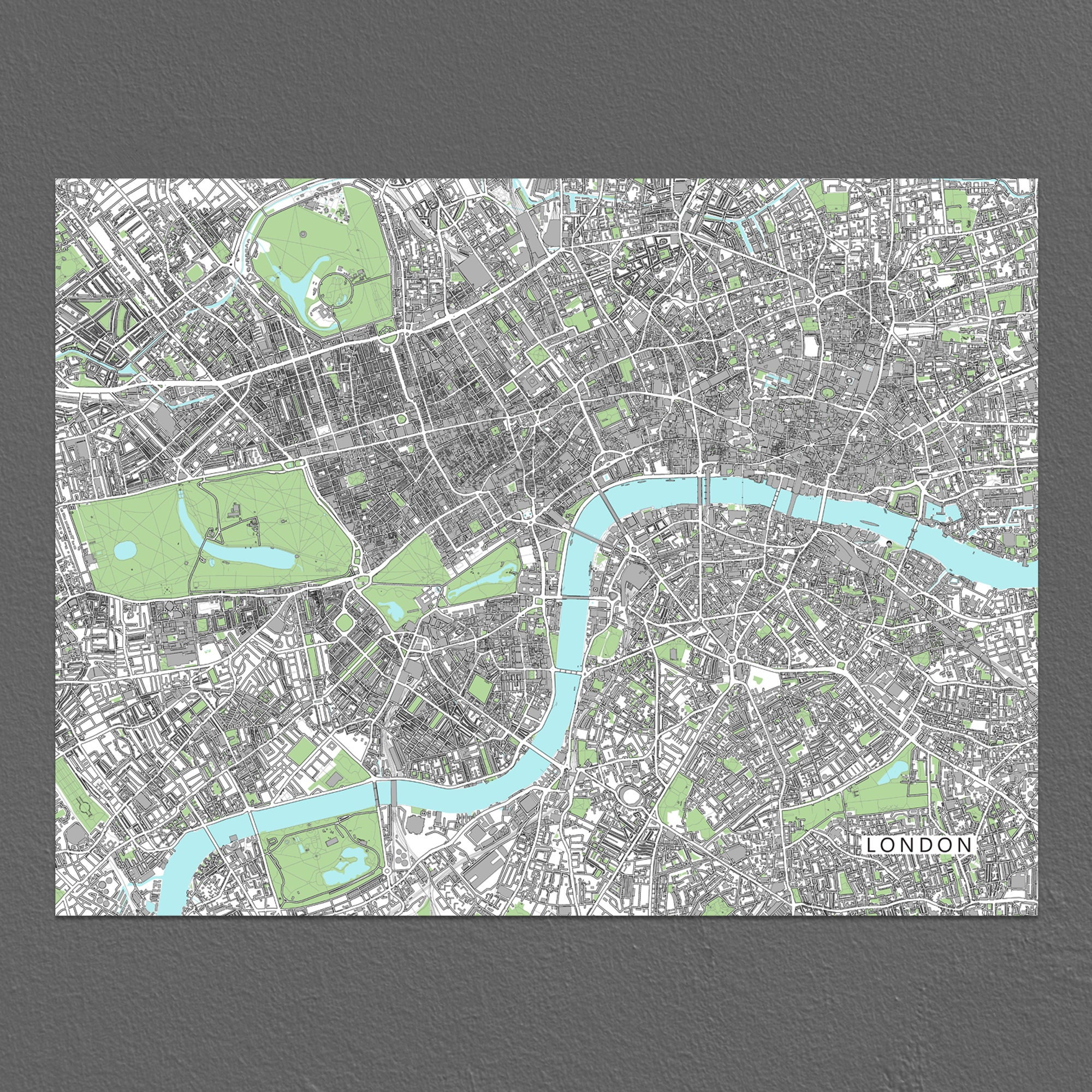 London City Map Printable.London Map Print London Art London City Map Poster London England Uk