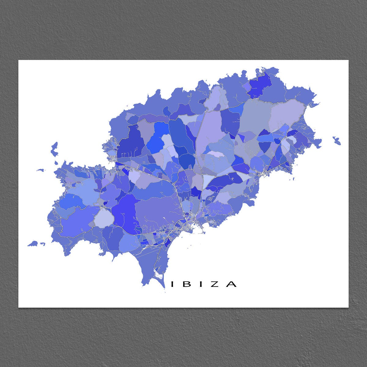 Ibiza Karte Ausdrucken.Ibiza Kunstdrucke Spanien Ibiza Karte Drucken Insel
