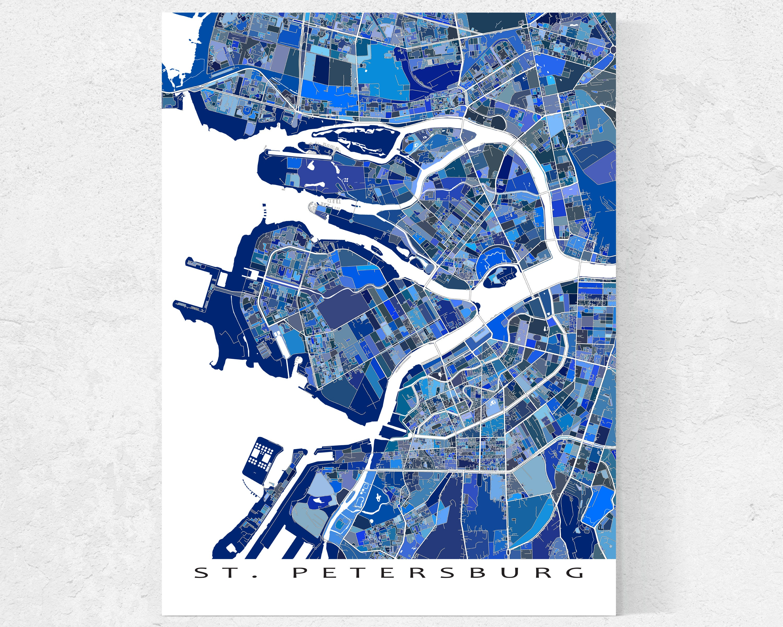 St petersburg russia map