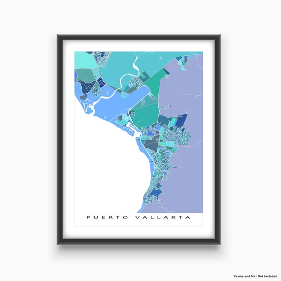 Puerto Vallarta World Map.Puerto Vallarta Map Print Puerto Vallarta Mexico Art Mexico Etsy