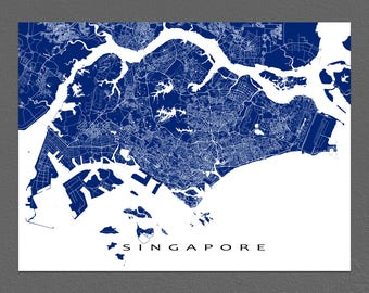 Singapore Map Print, Singapore Art, City Map Art