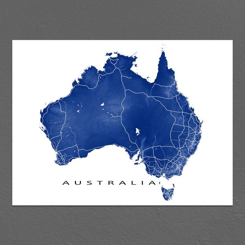 Country Map Of Australia.Australia Map Australia Art Country Map Australia Print Sydney Mebourne Perth