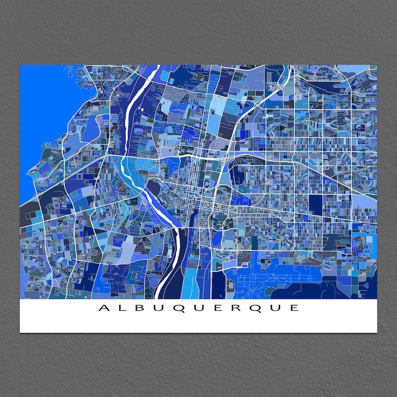 Albuquerque New Mexico Albuquerque Karte drucken Stadt der   Etsy on
