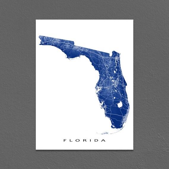 Usa Map Florida State.Florida Map Florida State Art Print Usa State Outline Maps