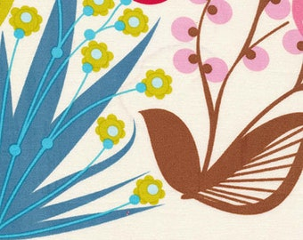 Anna Maria Horner, Loulouthi, Summer Totem, Tart, flowers, floral, birds, cream, multi, see coordinates, Free Spirit
