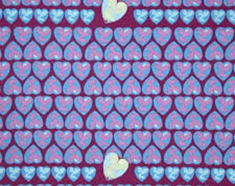 Tina Givens, Feather Flock, Heart Cancy, Periwinkle, blue, rose, Free Spirit