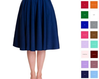 d515f5da80 Custom Skirt Circle Skirt Midi Skirt Mini Skirt Custom Length with Pockets  Swing Skirt Pinup Skirt Party Skirt Plus Size Bridesmaid Skirt