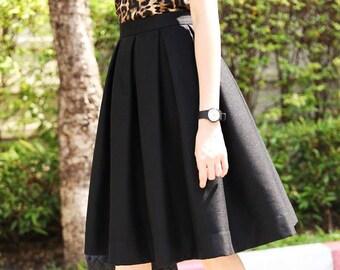 a31aabf1e28ac Custom Skirt Pleated Skirt Maxi Skirt Midi Skirt Mini Custom Size Length  Color with Pockets Bridal Party Skirt Plus Size Bridesmaid Skirt