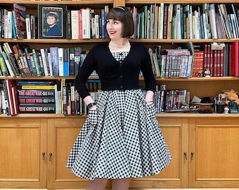 5edfda75c Black and White Checkered Dress Vintage Dress Summer Dress Rockabilly Pinup  Dress 50s Retro Party Dress Swing Dress