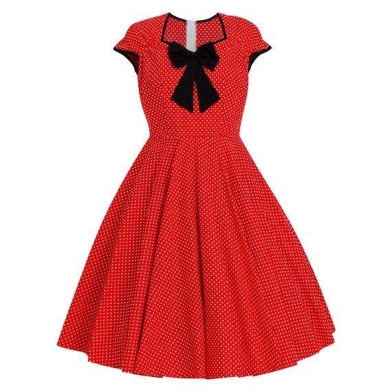 Plus Size Mickey Minnie Mouse Dress Vintage Dress Disney Dress Christmas  Dress Polka Dot Dress Red Dress Pin Up Dress 50s Party Dress