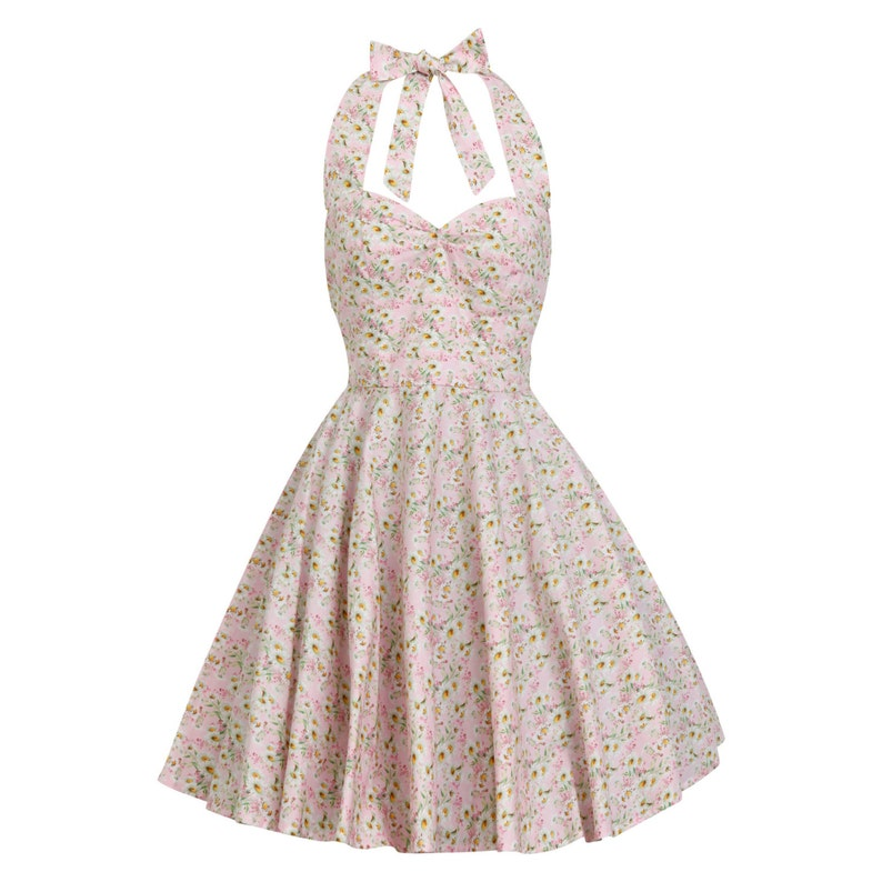 c39581497fa3 Pink Daisy Dress Pink Floral Dress Summer Dress Picnic Dress