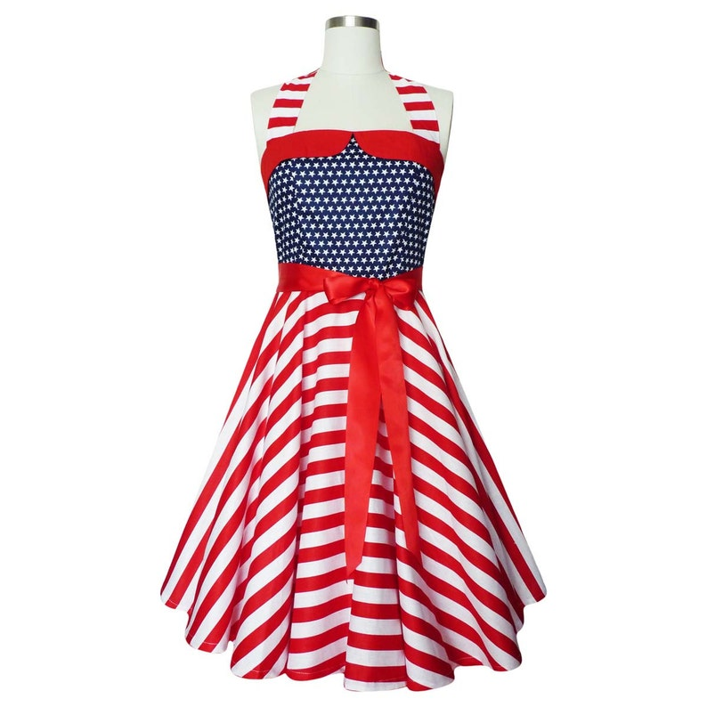 f89159e75bd19 Plus Size Independence Day Dress 4th July Dress Patriotic