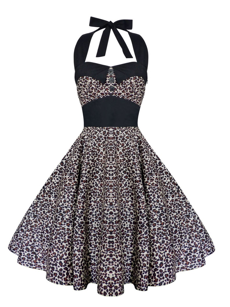Plus Size Leopard Dress Animal Print Dress Vintage Dress Halloween Dress  Rockabilly Dress Pin Up Dress Retro Dress Steampunk 50s Party Dress