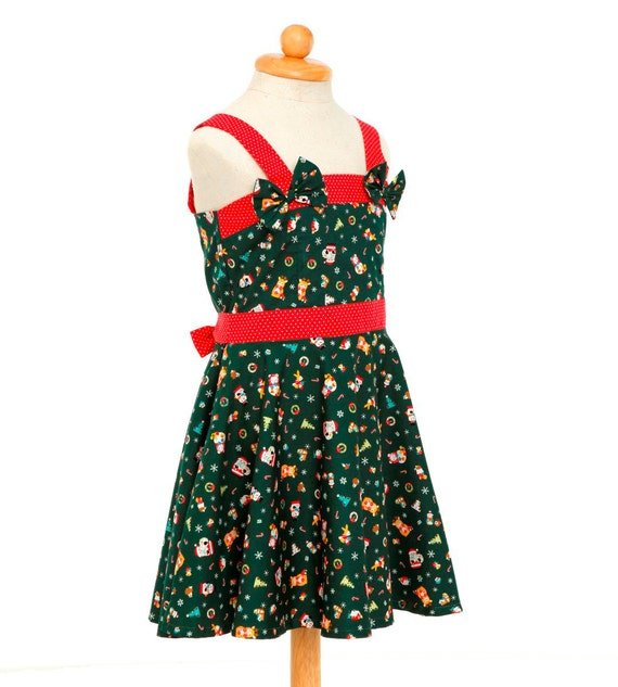 image 0 - Green Christmas Dress Christmas Outfit Holiday Dress Girls Etsy