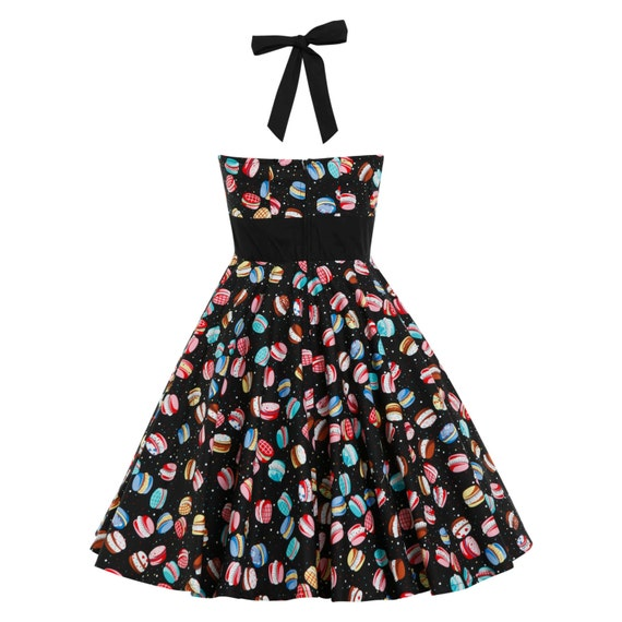 Plus Size Black Macaron Dress Vintage Dress Birthday Party Etsy