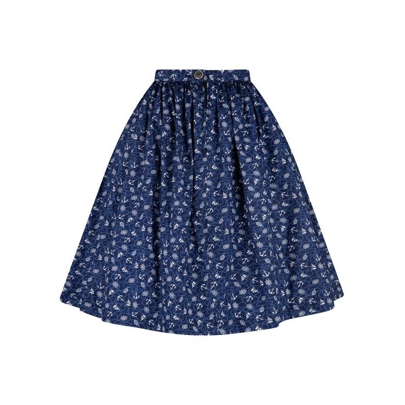 1950s Swing Skirt, Poodle Skirt, Pencil Skirts Nautical Skirt Navy Anchor Sailor Skirt Blue Skirt Women Gathered Skirt Rockabilly Skirt Pinup Skirt Retro Skirt 50s Swing Skirt Party Skirt $39.00 AT vintagedancer.com