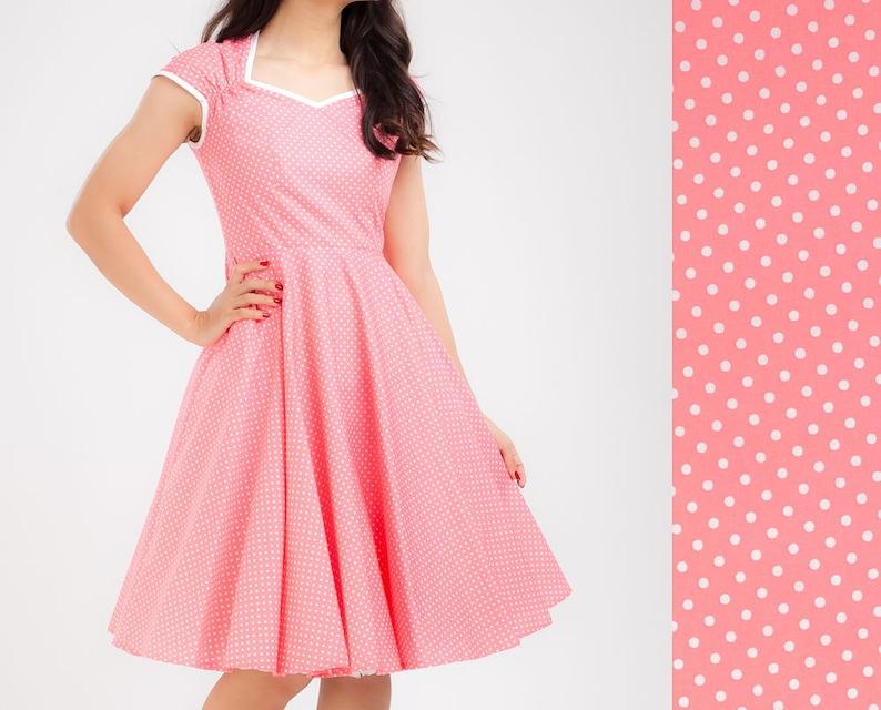 Pink Polka Dot Prom Dress