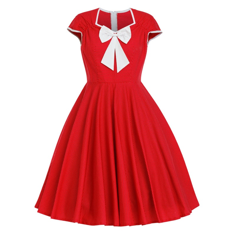 Plus Size Christmas Dress Polka Dot Dress Vintage Dress Sun | Etsy
