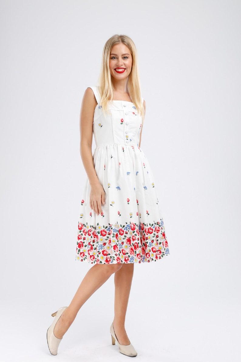 Plus Size Rose Dress Floral Dress Vintage Dress Summer Picnic | Etsy