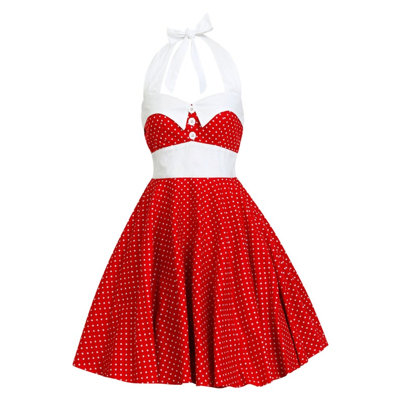 Plus Size Red Christmas Dress Polka Dot Dress Retro Dress Holiday Dress  Disney Dress Rockabilly Dress PinUp Dress 50s Party Dress Prom Dress