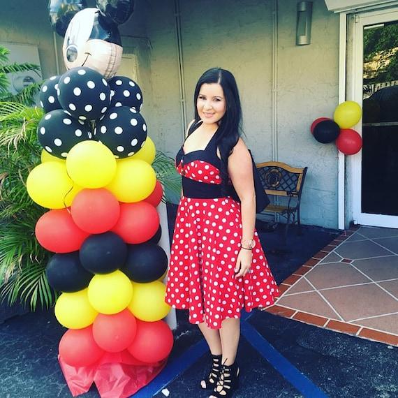 Plus Size Minnie Mouse Dress Red Polka Dots Dress Vintage Retro Dress  Disney Dress 50s Dress Rockabilly Dress Pin Up Dress Party Dress