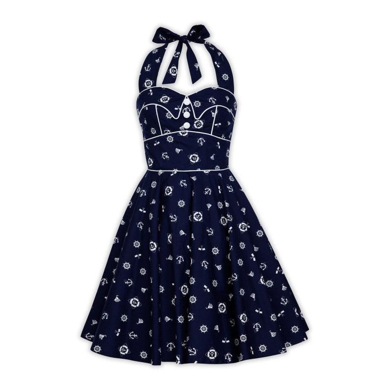 Plus Size Nautical Dress Sailor Dress Mini Dress PinUp Dress 50s Vintage  Dress Summer Dress Rockabilly Swing Dress Dress Retro Party Dress