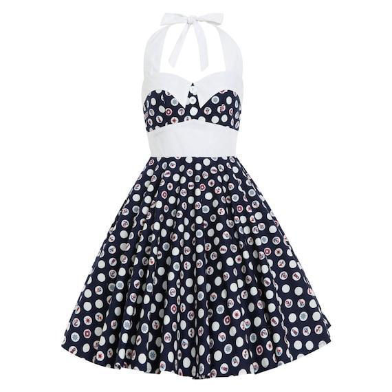 Plus Size Dress Vintage Dress Summer Dress Sailor Dress PinUp Dress  Rockabilly Beach Dress 50s Swing Dress Holiday Dress Retro Party Dress