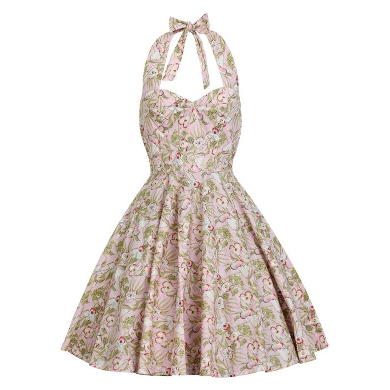 Plus Size Tropical Dress Tiki Dress Summer Dress Floral Dress Vintage Dress  50s Rockabilly Pin Up Dress Beach Dress Retro Swing Party Dress