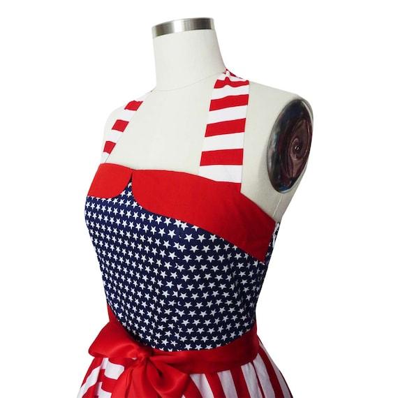 Plus Size Independence Day Dress 4th July Dress Patriotic Dress USA Flag  Vintage PinUp Dress Retro Dress Rockabilly Dress 50s Dress